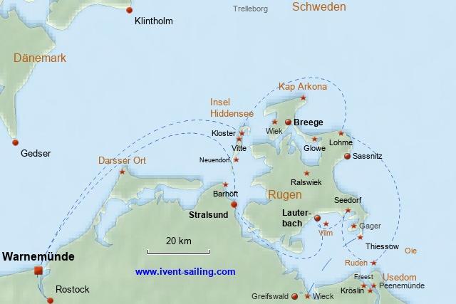 Segeln Rügen und Hiddensee