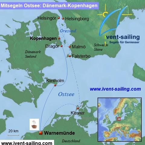 Segeln Ostsee Warnemünde-Öresund-Kopenhagen