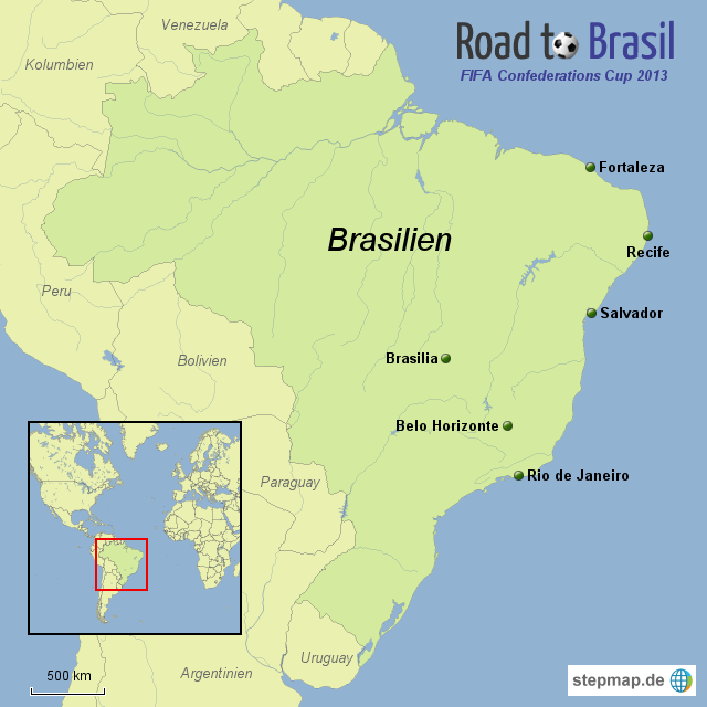 Spielorte FIFA Confederations Cup 2013 - Road to Brasil