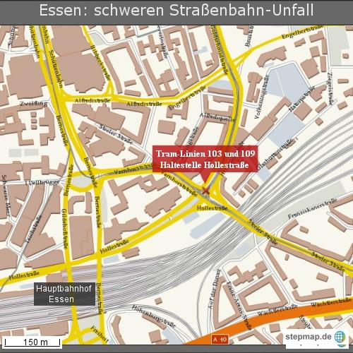 Essen: schweren Straßenbahn-Unfall