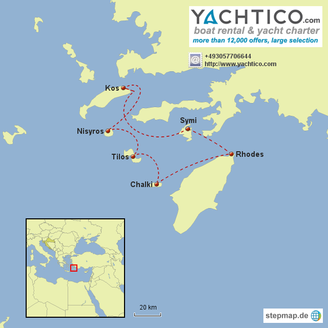 Yachtcharter Dodecanese