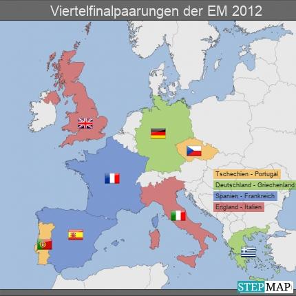 Viertelfinalpaarungen der EM 2012