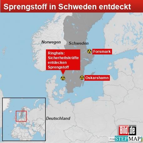 Sprengstoff in Schweden entdeckt
