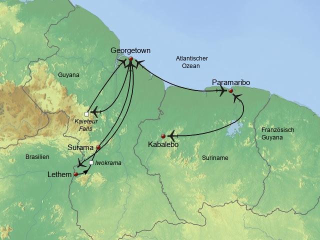 Höhepunkte Suriname und Guayana