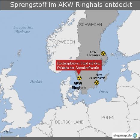 Sprengstoff im AKW Ringhals entdeckt