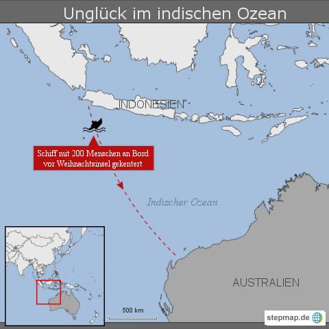 Unglück im indischen Ozean