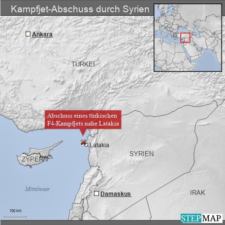 Kampfjet-Abschuss durch Syrien