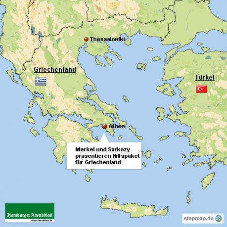 Merkel und Sarkozy präsentieren Hilfspaket für Griechenland