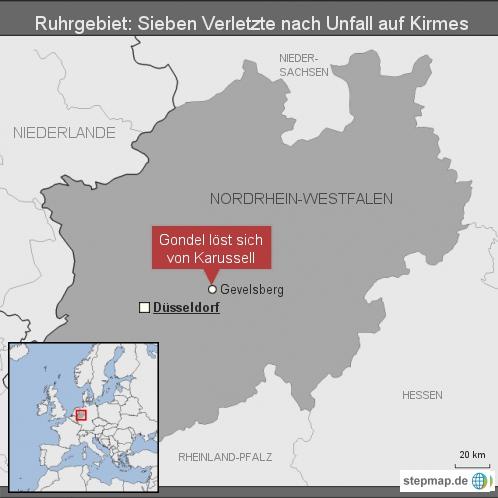 Ruhrgebiet: Sieben Verletzte nach Unfall auf Kirmes