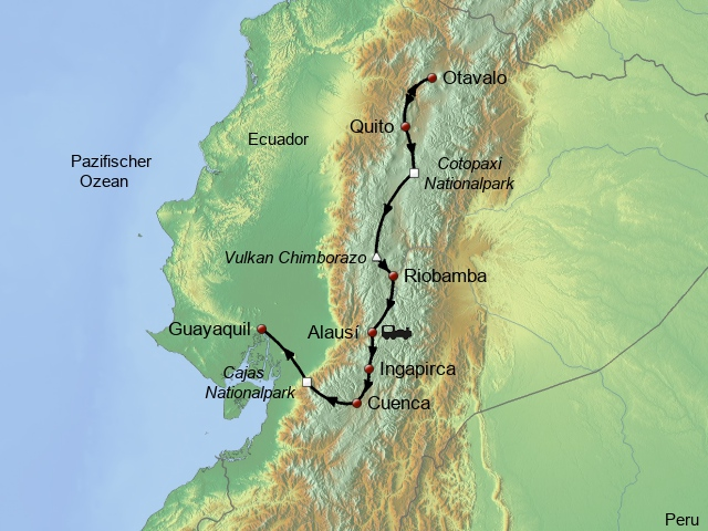 Höhepunkte Ecuadors