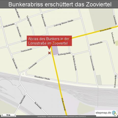 Bunkerabriss erschüttert das Zooviertel