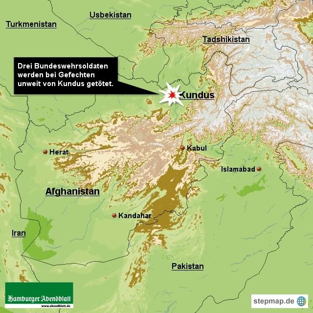 Soldaten der Bundeswehr im Norden Afghanistans in ein schweres Gefecht mit Taliban-Kämpfern verwickelt.