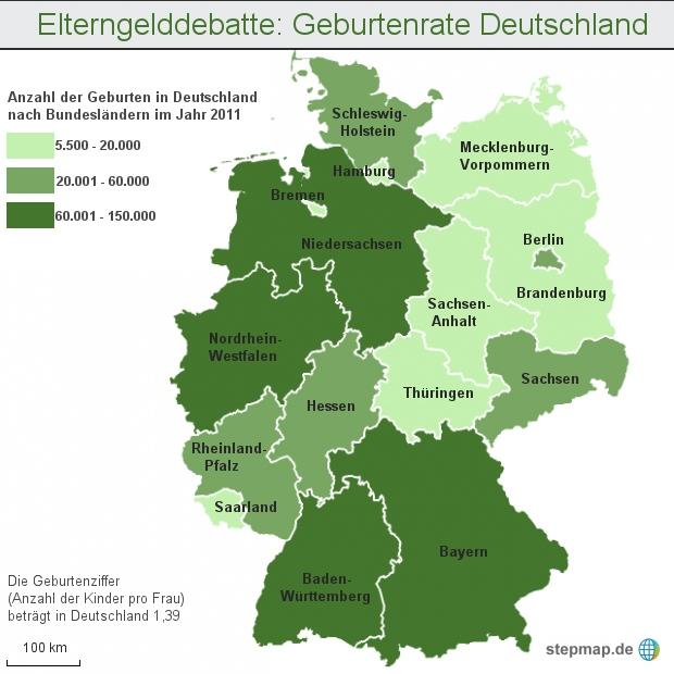 Elterngelddebatte: Geburtenrate Deutschland