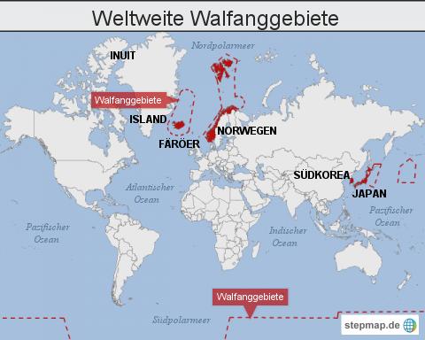 Weltweite Walfanggebiete