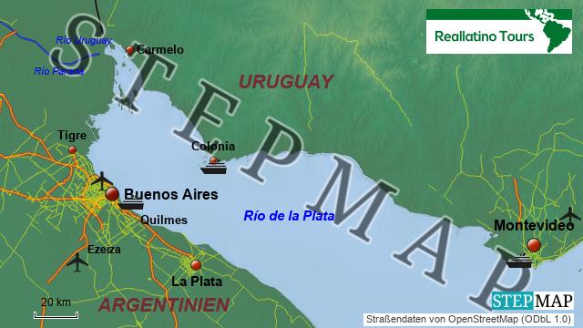 Umgebungskarte Buenos Aires