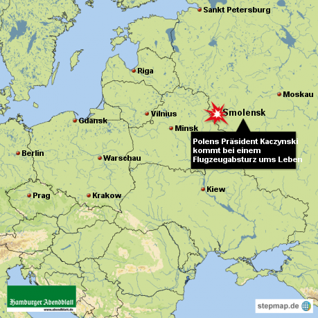Polens Präsident Lech Kaczynski kommt bei einem flugzeugunglück ums Leben