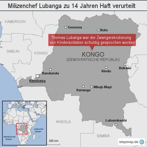 Milizenchef Lubanga zu 14 Jahren Haft verurteilt