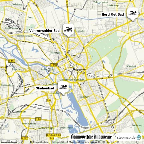 Hallenbäder in Hannover