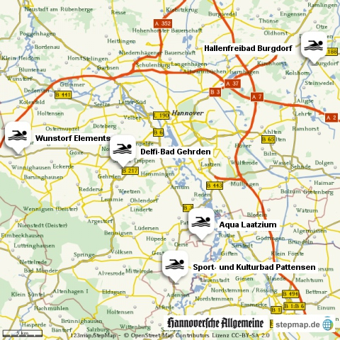 Hallenbäder in der Region Hannover
