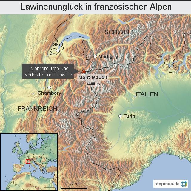 Tote bei Lawinenungl�ck in franz�sischen Alpen