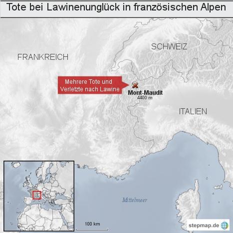 Tote bei Lawinenunglück in französischen Alpen