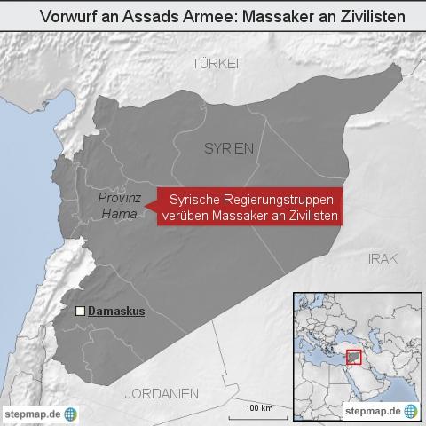 Vorwurf an Assads Armee: Massaker an Zivilisten