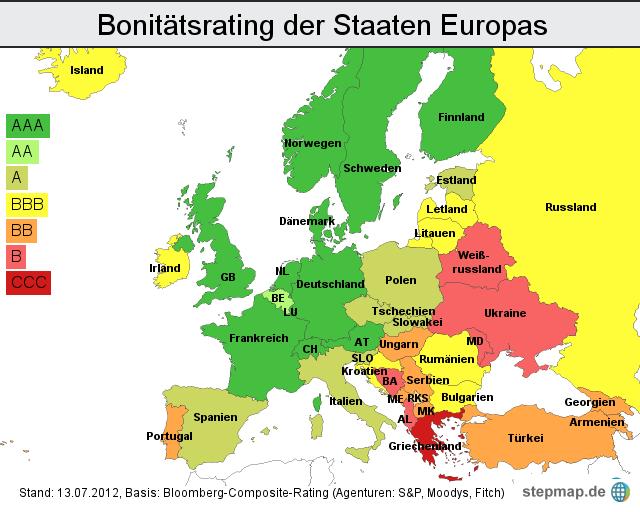 Bonitätsrating Europa: Moody's stuft Italien herab