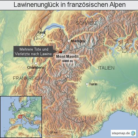 Lawinenunglück in französischen Alpen