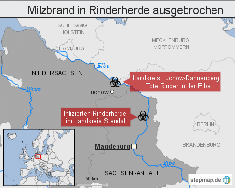 "<span class=""rtr-schema-org"" itemscope="""" itemtype=""http://schema.org/Thing""><meta itemprop=""name"" content=""Milzbrand"">Milzbrand</span> in Rinderherde ausgebrochen"