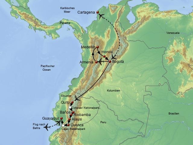 Kolumbien-Ecuador
