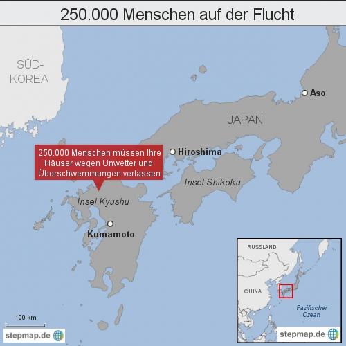 Japan: 250.000 Menschen auf der Flucht