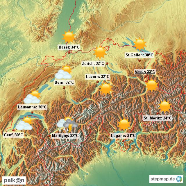 Wetter für die Schweiz