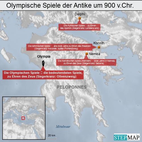 Olympische Spiele der Antike um 900 v.Chr.