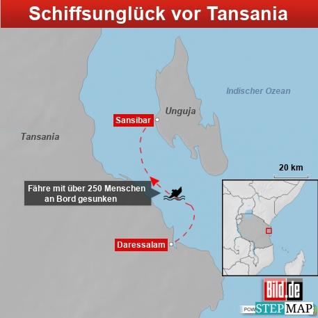Schiffsunglück Tansania