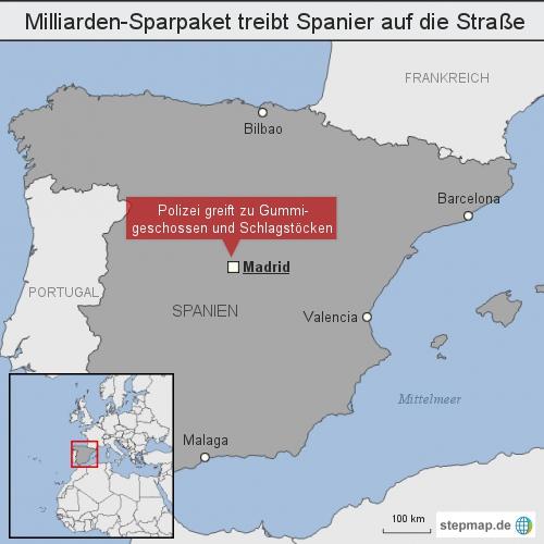 Milliarden-Sparpaket treibt Spanier auf die Straße