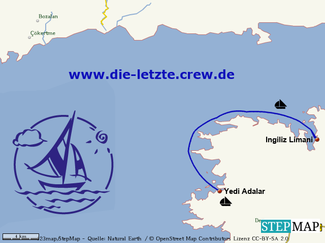 Ingiliz Limani - Yedi Adalar Segeln Türkei