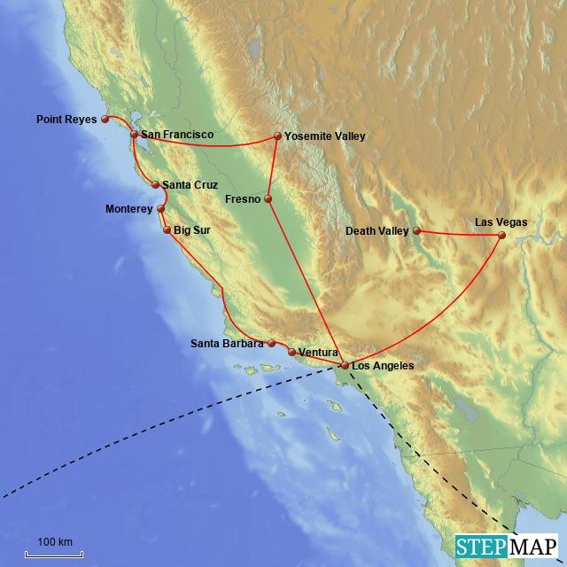 unterwegs in kalifornien