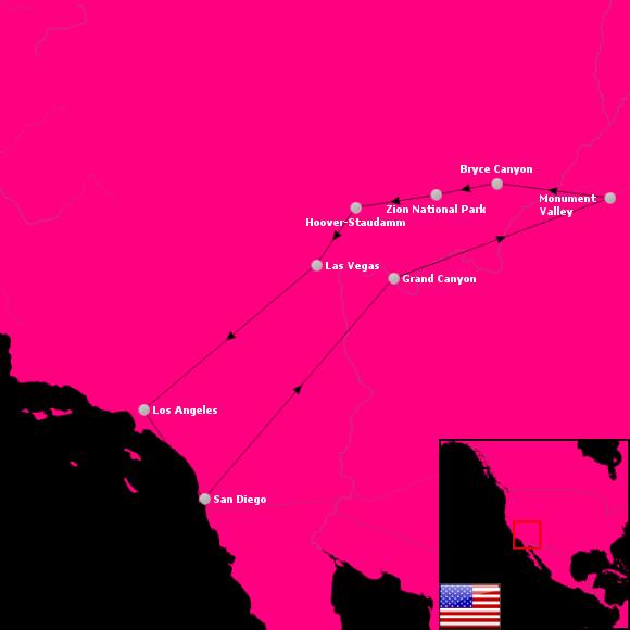 Westküste USA 2009