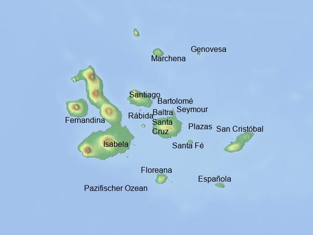 Karte Galapagos_Rundreise