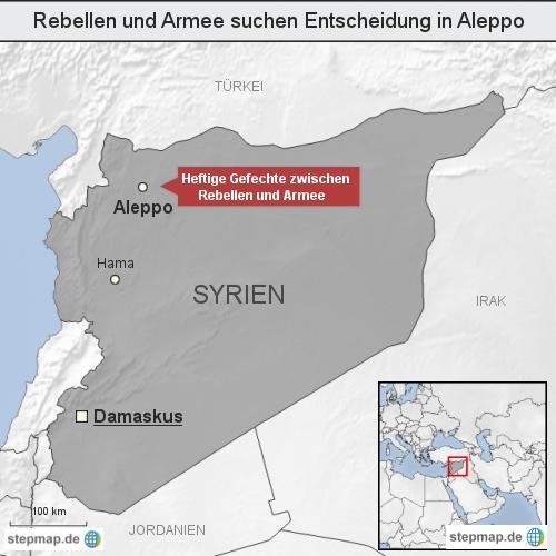 Rebellen und Armee suchen Entscheidung in Aleppo