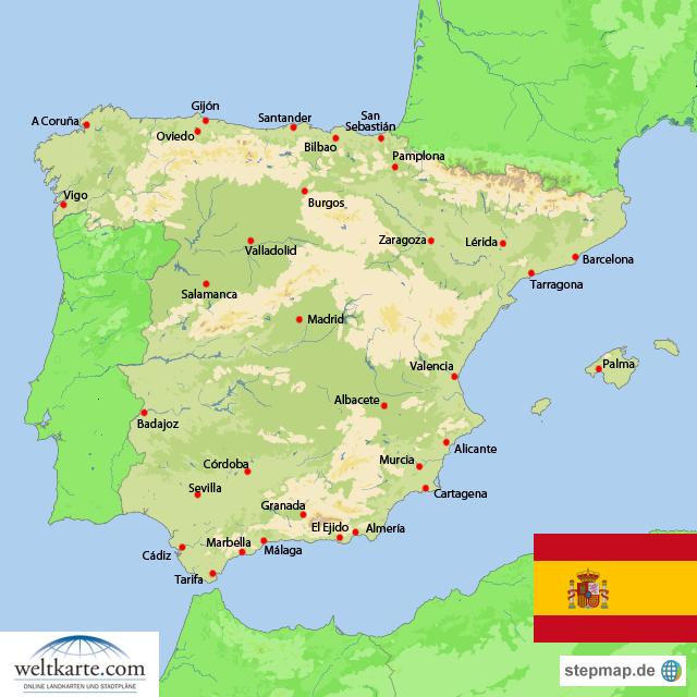spanien karte ile ilgili görsel sonucu Spainen karte online