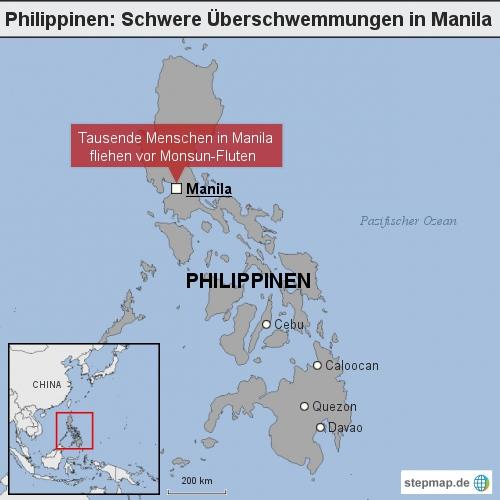 Philippinen: Schwere Überschwemmungen in Manila
