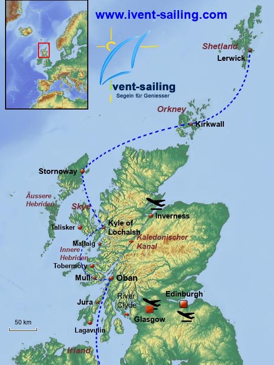 Segelreisen Schottland