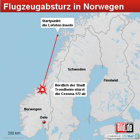 Flugzeugabsturz in Norwegen, August 2012 - 457 Pixel Breite