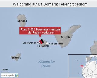 Ferienort bedroht: Waldbrand auf La Gomera