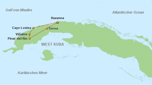 Carte Cuba Cayo Levisa.Privatreise Westkuba Auf Dem Bike Privatreise Cuba