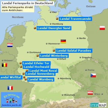 Landal Ferienparks in Deutschland