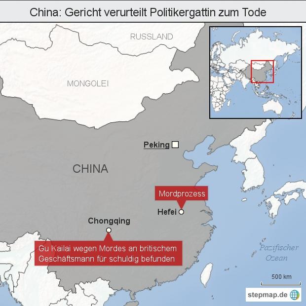 China: Gericht verurteilt Politikergattin zum Tode