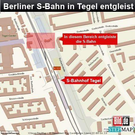 Berliner S-Bahn in Tegel entgleist