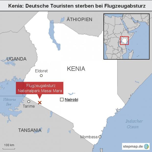 Kenia: Deutsche Touristen sterben bei Flugzeugabsturz
